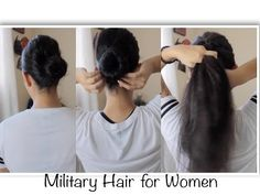 How To Create a Navy Approved Bun with a Twist - YouTube
