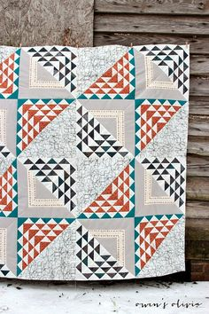 owen's olivia: Birchen Quilt Top for Fat Quarter Shop + Art Gallery Fabrics