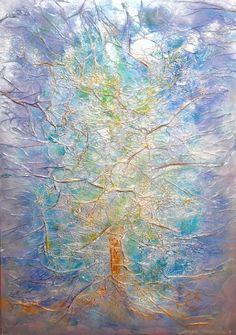 Nowe Drzewo Życia 2009 Adriana Karima Rozmiar oryginału 70 cm x 100 cm  Z obrazu emanuje spokój, zaduma. Drzewo symbolizuje naszą istotę. Jest piękna, silna, mistyczna. Cudny obraz dla spokojnego wnętrza.  Oryginał obrazu w kolekcji prywatnej Dostępne reprodukcje obrazu
