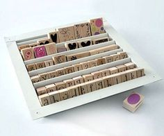 An air vent is the perfect size for storing stamps. | Community Post: 45 Organization Hacks To Transform Your Craft Room