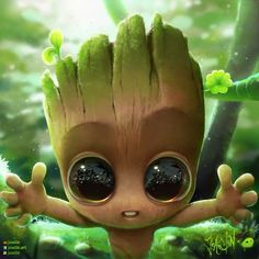 Marvel Cute Groot DIY Full Drill Square/Round Diamond Painting Stitch Kit Decor For Home Wall Decor Gifts For Friends Baby Groot, Marvel Wallpaper, Disney Wallpaper, Watercolor Animals, Watercolor Paintings, Disney Anime Style, Cartoon Trees, Baby Tumblr, I Am Groot
