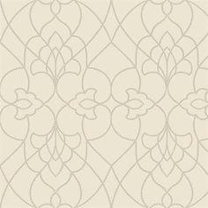 Nursery wallpaper idea - Beige Dotted Pirouette Contemporary Wallpaper