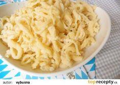 Bavorské špecle - základní těsto (Spätzle) recept - TopRecepty.cz Czech Recipes, Ethnic Recipes, European Dishes, Spatzle, Bread And Pastries, Polish Recipes, Gnocchi, Dumplings, Macaroni And Cheese
