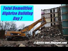 Hochhaus Abriss Duisburg Rheinhausen Caterpillar Excavator Demolition Day 7 - YouTube