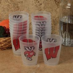 Wisconsin Badgers 16-pack 10oz. Frosted Cup http://sportro.se/c