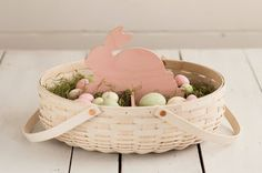 #Longaberger Baskets- Easter Basket #1 In 6 Spring-inspired colors, mix and match these adorable WoodCrafts Bunnies and WoodCrafts Eggs to bring the beauty of Spring indoors!