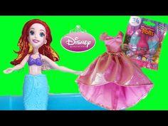Disney Princess Ariel Splash Surprise Hasbro + Trolls Blind Bag Series 4 Toy Video - YouTube Princess Videos, Ariel Doll, Disney Princess Ariel, Series 4, Rapunzel, Troll, Blind, Aurora Sleeping Beauty, Disney Characters
