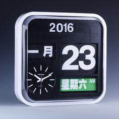 FARTECH Auto Calendar Flip Clock AD-630 Flip Clock, Clocks, Showroom, Calendar, Ads, Design, Watches