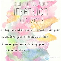 checking in with your 2013 intentions!