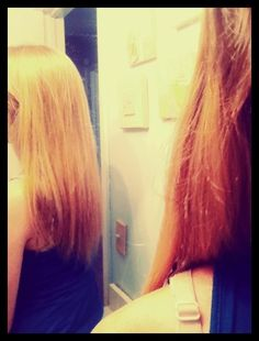 How to get healthy hair! Egg yolk, and baking soda and a little bit of water. Leave it in for about half an hour or so and then rinse out with shampoo and conditioner. Not only does it make it healthier, but it makes it grow faster too because it boosts the hair folical!