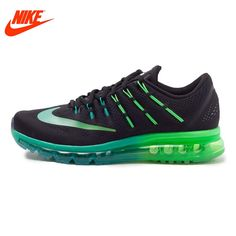 199.43$  Watch now - Original NIKE Breathable AIR MAX Men's Running Shoes Sneakers Blue Green Sole  #shopstyle