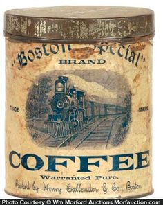 Antique Advertising | Boston Special Coffee Can • Antique Advertising