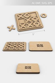 Laser Cutter Ideas, Laser Cutter Projects, Cnc Projects, Woodworking Projects Diy, Wood Laser Ideas, Tic Tac Toe Board, Cnc Plans, Bullet Journal Books, Laser Art