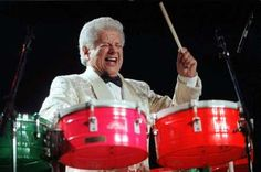 "Tito Puente, ""El Rey de los Timbales"", awesome percussionist known for dance-oriented mambo and Latin jazz compositions."