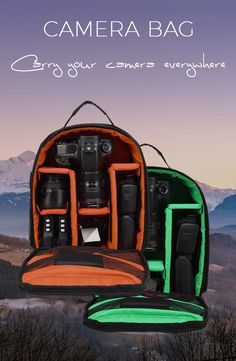 Stylish backpack with color lining, compatible with most DSLR cameras.  #bag #bagpack #camera #outdoors #hiking #trees #naturelover #wildlife #forest #water #instanature #tree #flower #mountain #lake #ocean #skyporn #cloudporn #dslr #lens #dslrcamera