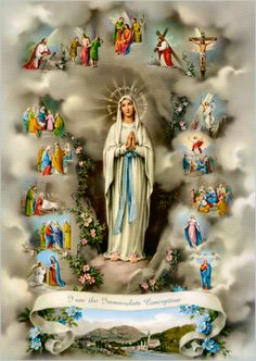 """February 11: """"I cannot promise you happiness in this world, only in the next."""" ~ Words of our mother Mary, to St. Bernadette.  Image links to a beautiful article on the sufferings of St. Bernadette"""