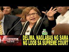 NAGKAKAGULAT! DELIMA, NAGLABAS NG SAMA NG LOOB! PANOORIN! Supreme Court, Philippines