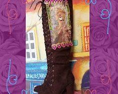 Gypsy bridal boots | Etsy Wedding Boots, Big Day, Gypsy, Take That, Etsy Shop, Bridal, Creative, Handmade, Stuff To Buy