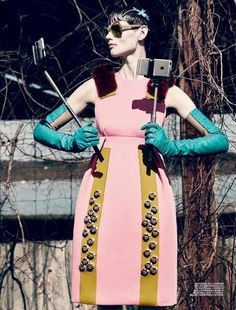 """Saskia de Brauw is """"Selfie"""" obessed by Mikael Jansson for Interview July 2015 [Fashion]"""