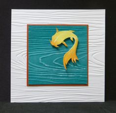 Koi - love the use of the wood grain embossing folder to represent water