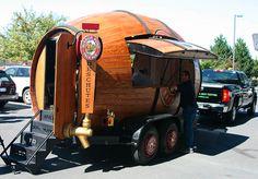 Woody!! Mobile Beer trailer...oooohhhh, want.