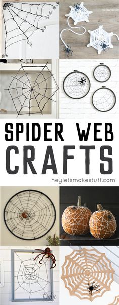 Want to add a touch of the spooky to your Halloween decor? Try one of these spider web crafts and DIYs!