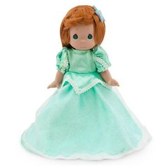 Disney Ariel Doll by Precious Moments | Disney StoreAriel Doll by Precious Moments - Rise from the depths to behold this delightfully costumed Ariel Doll by Precious Moments. Her glimmering satin gown with delicate lace trims is accented by a sheer iridescent overskirt, fit for a mermaid princess!