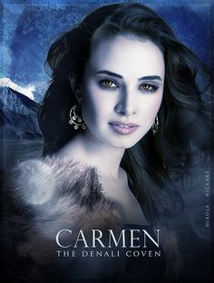 Mia Maestro as Carmen Denali (Twilight Breaking Dawn Part 1 and 2)