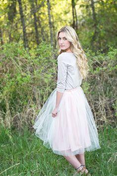 Modest Tulle Skirt