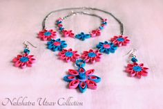 Nakshatra Utsav Collection: NUC_Paper quilling_jewellery set_001