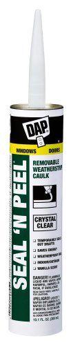Dap 18354 Seal 'N Peel Removable Caulk, 10.1-Ounce, 2015 Amazon Top Rated Adhesive Caulk #HomeImprovement
