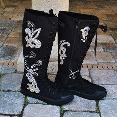 Swarovski Embellished High sneakers