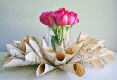 music centerpieces | Sheet Music Centerpiece | Centerpiece Ideas