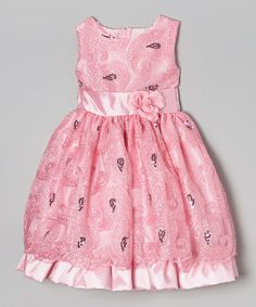 Another great find on #zulily! Light Pink Swirl Sequin Dress - Infant, Toddler & Girls by Kid Fashion #zulilyfinds
