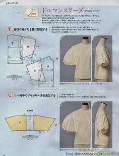 Need Some Sewing Patterns? Japanese Sewing Patterns, Dress Sewing Patterns, Clothing Patterns, Apron Patterns, Techniques Couture, Sewing Techniques, Sewing Clothes, Diy Clothes, Sewing Sleeves
