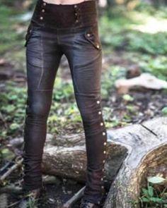 Women's Casual Pockets Solid Pants – narachic Mode Steampunk, Casual Steampunk, Gothic Leggings, Steampunk Leggings, Kleidung Design, Looks Halloween, Camouflage Leggings, Moda Emo, Fashion Moda