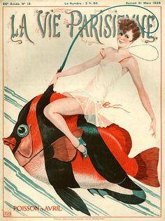 La Vie Parisienne March 1928 Illustration by Georges Leonnec