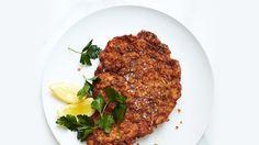 Pretzel-Crusted Pork Schnitzel Recipe   Bon Appetit