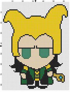 Loki Weenie (2) Cross Stitch Pattern - Professional Pattern Designer and Artist Collaboration