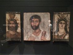 Panel of Man between those of Serapis and Isis