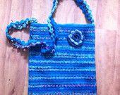 Blue crochet hip bag - pinned by pin4etsy.com