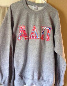 Custom Lilly Pulitzer Crew Neck Sweatshirt Shell by LettersbyAlex WANT WANT WANT alpha delta pi