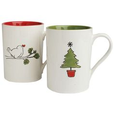 Evergreen Holiday Mug Set