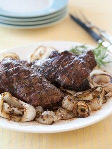 Grilled Bison Strip Steaks