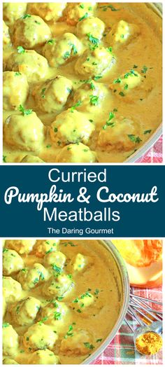 These pumpkin meatballs are simmered in a deliciously creamy curry-coconut sauce. Featuring layer upon layer of delicious flavors, these meatballs will absolutely WOW your taste buds!
