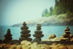 Lake Superior cairns