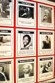 Help students learn about famous African-Americans with these Black History Informational Posters. African American History Month, American History Lessons, History For Kids, Black History Month, Women In History, African History, History Bulletin Boards, Teacher Bulletin Boards, History Posters