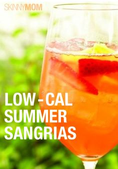 You have to try one of these yummy sangria recipes!  They're low-cal and perfect for entertaining!