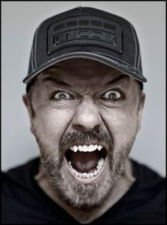 Ricky Gervais does not want you to go with the flow.