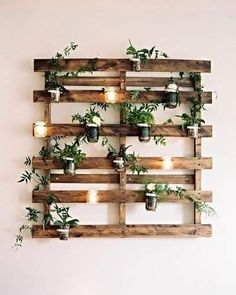 Feature light planter vertical crate idea